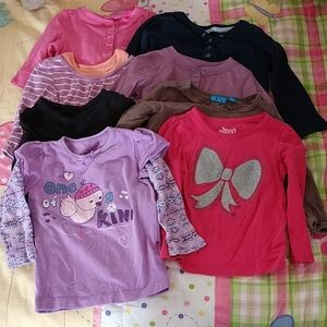 Lot of 8 girls shirts size 18 months